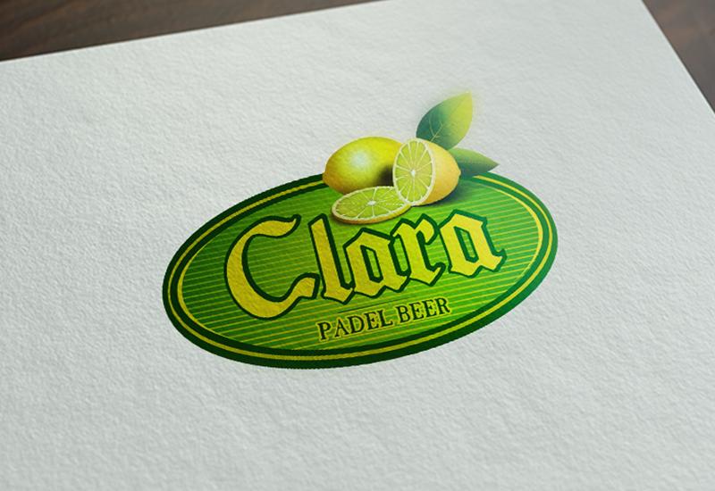 7natos logotipų kūrimas clara padel beer