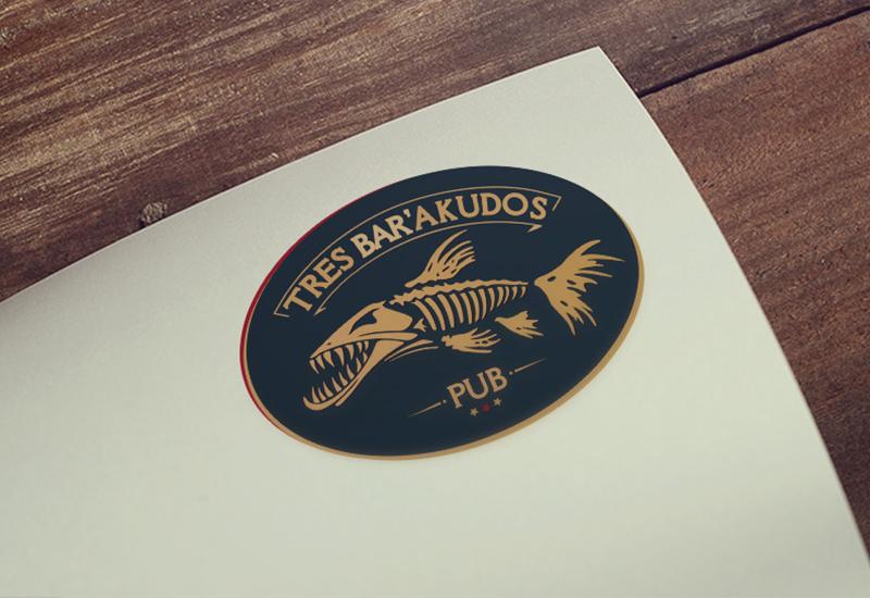 7natos logotipų kūrimas tres barakudos pub