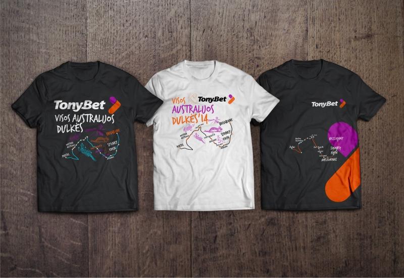 Marškinėlių dizainas TonyBet