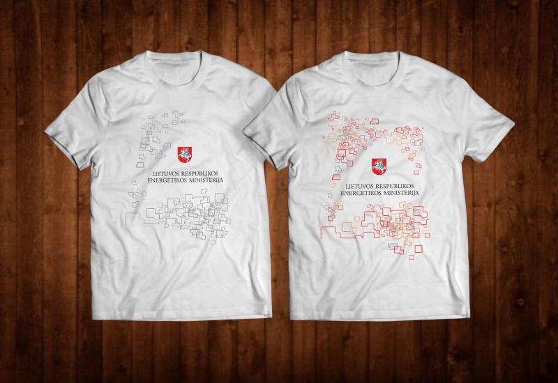 Marškinėlių dizainas Lietuvos Respublikos Energetikos Ministerija