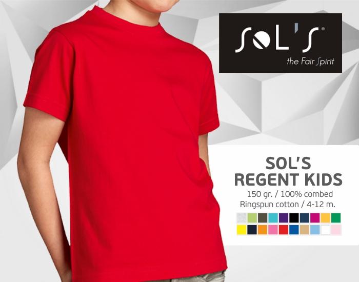 vaikiški marškinėliai sols regent kids, marškinėliai su spaudu, marškinėliai su logotipu, medvilniniai marškinėliai, 7natos.lt, marskineliai.lt,