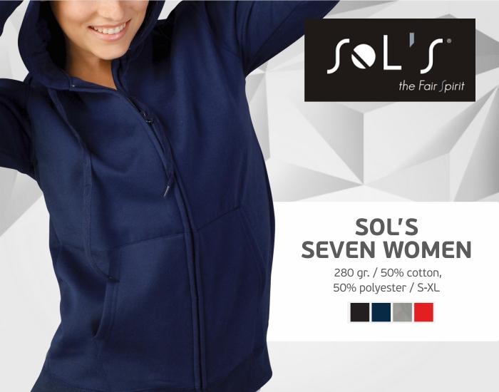 moteriški džemperiai sols seven women, džemperiai su spauda, bliuzonai su spaudu, džemperiai su logotipu, medvilniniai džemperiai, medvilniniai bliuzonai 7natos.lt, marskineliai.lt,