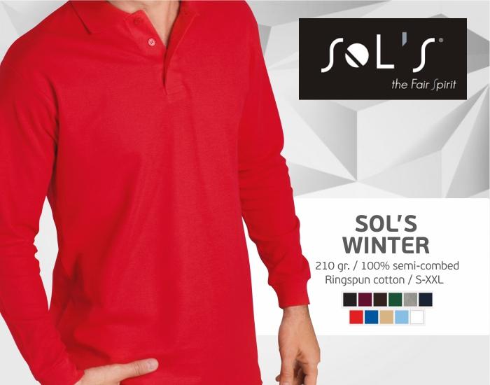 Polo marškinėliai sols winter ilgomis rankovėmis, polo marškinėliai su spaudu, polo marškinėliai su logotipu, medvilniniai polo marškinėliai, 7natos.lt, marskineliai.lt,