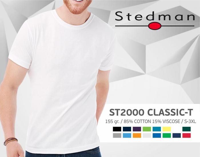 marškinėliai stedman-st2000, marškinėliai su spaudu, marškinėliai su logotipu, medvilniniai marškinėliai, 7natos.lt, marskineliai.lt,