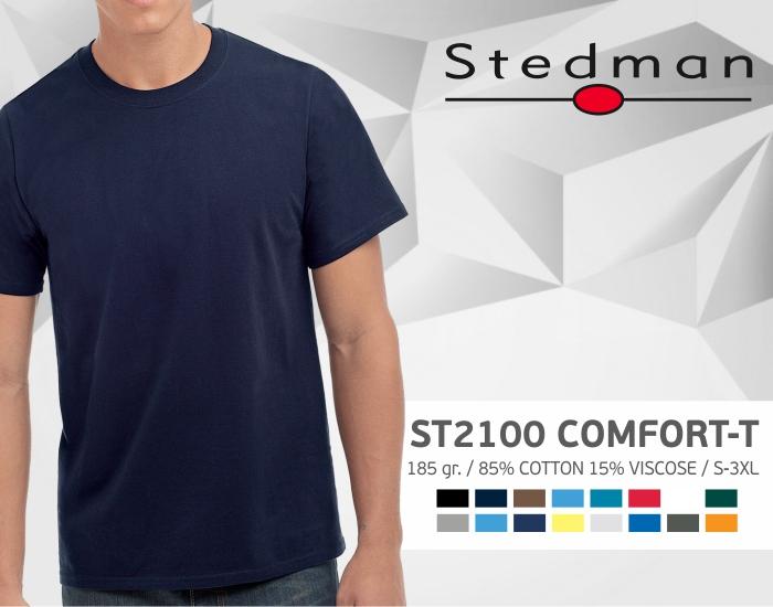 marškinėliai stedman-st2100, marškinėliai su spaudu, marškinėliai su logotipu, medvilniniai marškinėliai, 7natos.lt, marskineliai.lt,