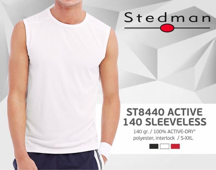 marškinėliai stedman-st8440 be rankovių, marškinėliai su spaudu, marškinėliai su logotipu, medvilniniai marškinėliai, 7natos.lt, marskineliai.lt,
