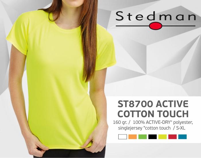 moteriški marškinėliai stedman-st8700, marškinėliai su spaudu, marškinėliai su logotipu, medvilniniai marškinėliai, 7natos.lt, marskineliai.lt,