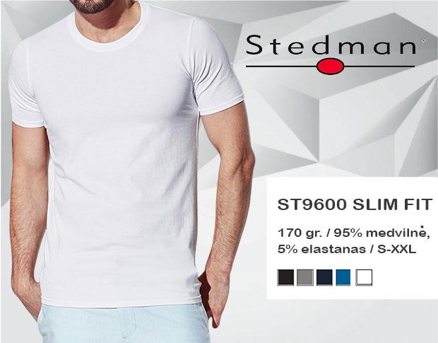 Marškinėliai Stedman ST9600, marškinėliai su spaudu, marškinėliai su logotipu, medvilniniai marškinėliai, 7natos.lt, marskineliai.lt, marškinėliai su logotipu, marškinėliai su užrašu, slimfit marškinėlių modelis