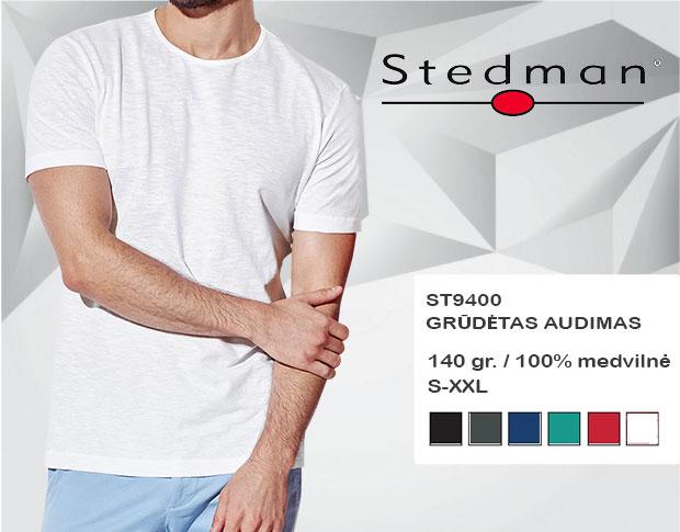 Marškinėliai Stedman ST9400, marškinėliai su spaudu, marškinėliai su logotipu, medvilniniai marškinėliai, 7natos.lt, marskineliai.lt, marškinėliai su logotipu, marškinėliai su užrašu