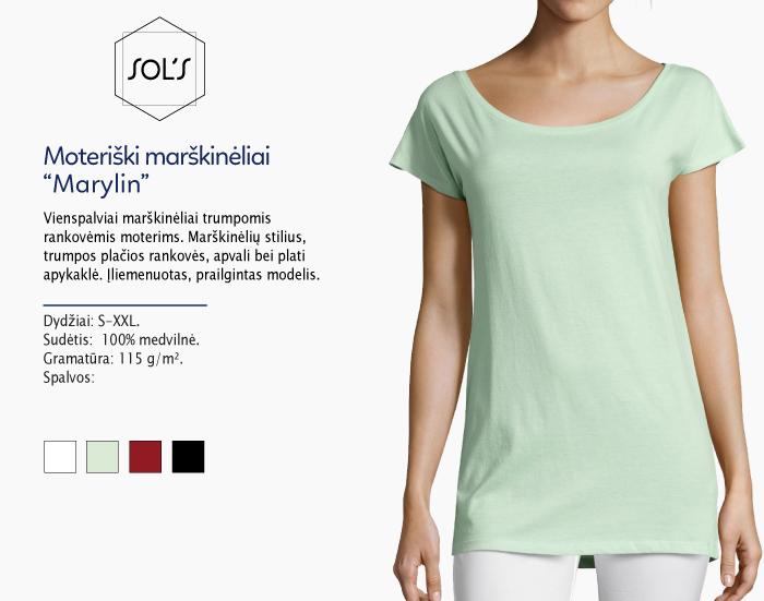 Moteriški marškinėliai Sol's Matylin marškinėliai su spaudu, marškinėliai su logotipu, medvilniniai marškinėliai, 7natos.lt, marskineliai.lt, marškinėliai su logotipu, marškinėliai su užrašu