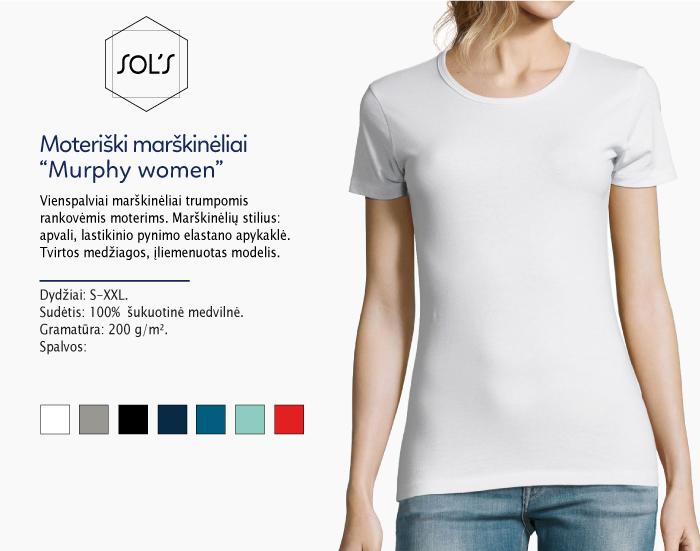 Moteriški marškinėliai Sol's Murphy women marškinėliai su spaudu, marškinėliai su logotipu, medvilniniai marškinėliai, 7natos.lt, marskineliai.lt, marškinėliai su logotipu, marškinėliai su užrašu