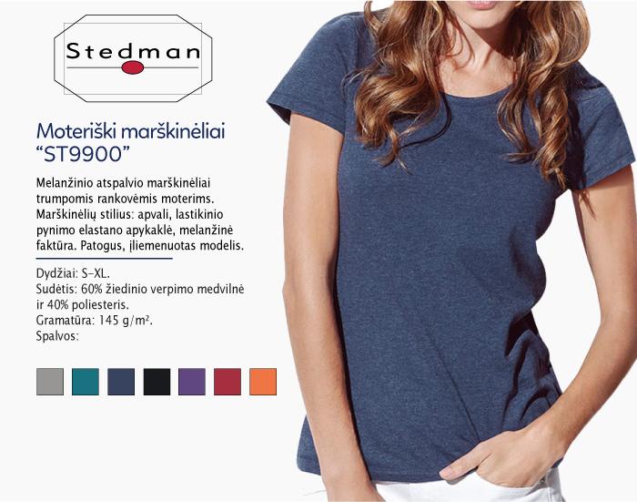 Moteriški marškinėliai Stedman ST9900 marškinėliai su spaudu, marškinėliai su logotipu, medvilniniai marškinėliai, 7natos.lt, marskineliai.lt, marškinėliai su logotipu, marškinėliai su užrašu