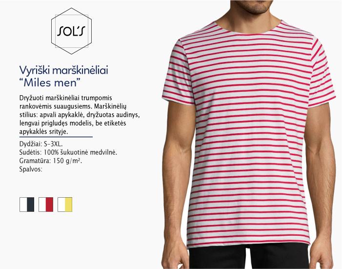 Marškinėliai Sols Miles men