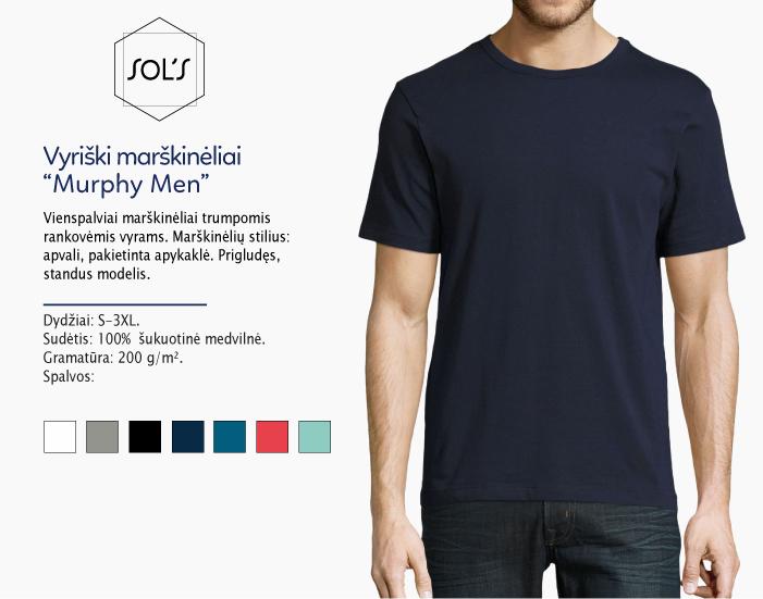Vyriski marškinėliai Sols Murphy men, juodi marškinėliai, marskineliai su nuotrauka, marskineliai su logotipu, marskineliai su spauda