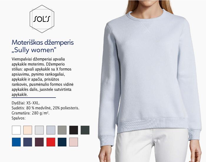 džemperis sols sully women, džemperiai su spauda, bliuzonai su spaudu, džemperiai su logotipu, medvilniniai džemperiai, medvilniniai bliuzonai 7natos.lt, marskineliai.lt,