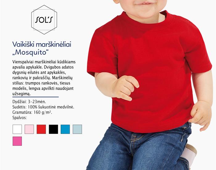 Kūdikio marškinėliai Sols Mosquito, vaikiski marskineliai su spauda, kūdikio marškinėliai su užrašu, marskineliai.lt, 7natos.lt