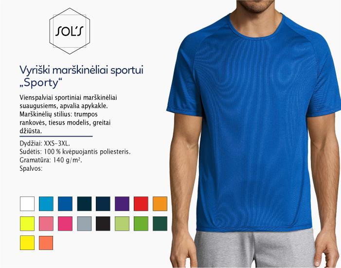 sportiniai marškinėliai vyrams sols sporty, marskineliai sportui, marskineliai maratonui, 7natos.lt, marskineliai.lt