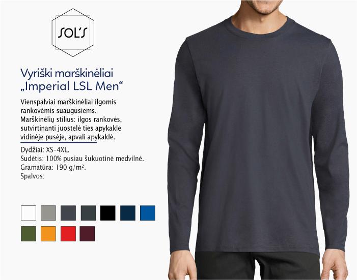 marškinėliai sols imperial LSL ilgomis rankovėmis, marškinėliai su spaudu, marškinėliai su logotipu, medvilniniai marškinėliai, 7natos.lt, marskineliai.lt,