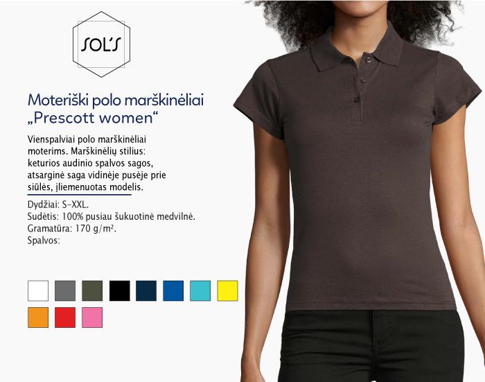 moteriški polo marškinėliai sols prescott women women,polo marškinėliai su spaudu, polo marškinėliai su logotipu, medvilniniai polo marškinėliai, 7natos.lt, marskineliai.lt,